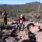 Jr Exec hiking the first part with Grandma's help